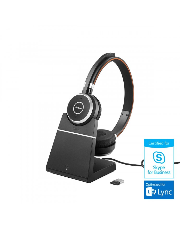 Jabra Evolve 65 MS Stereo med headset holder