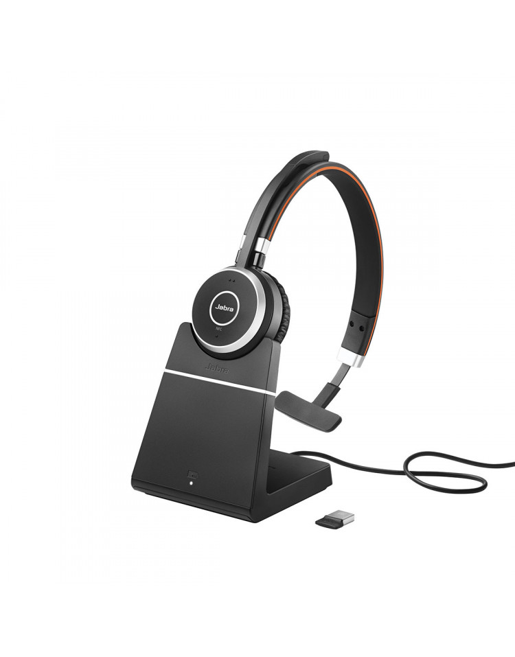 Jabra Evolve 65 UC Mono med headset holder