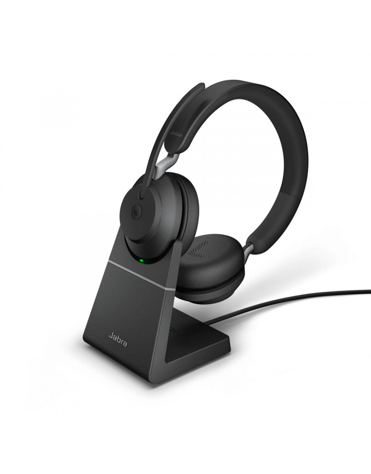 Jabra Evolve2 65 MS Stereo med headset holder