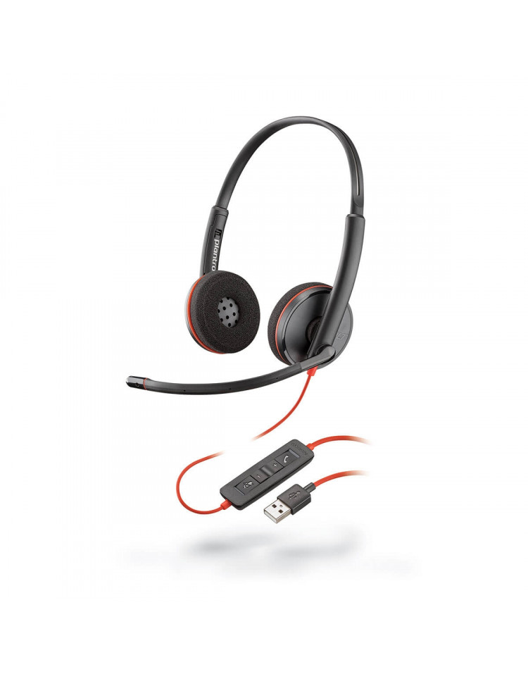 Plantronics Blackwire 3220 kontor headset til PC