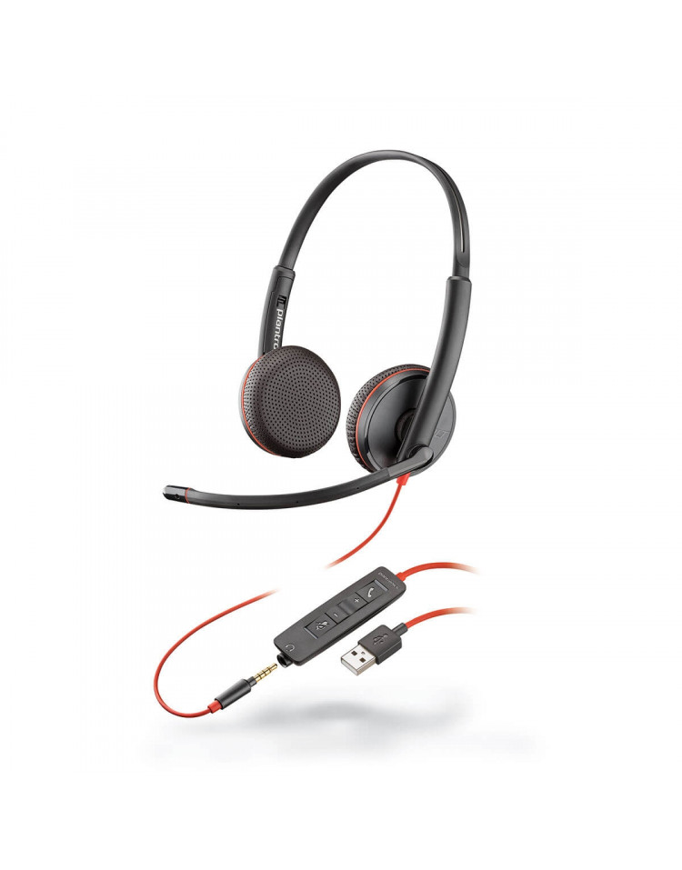 Plantronics Blackwire 3225 USB-A headset med mikrofon