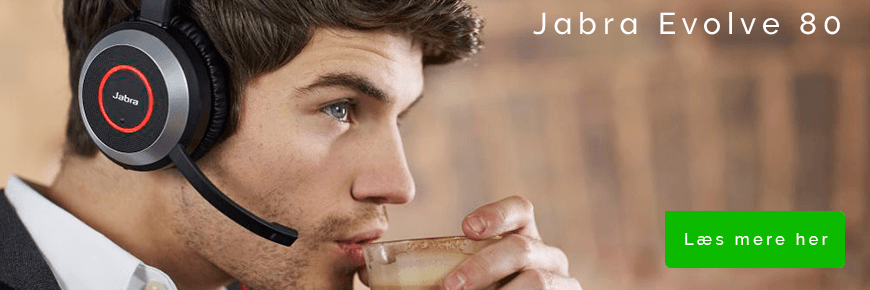 Over-ear headset til samtaler: Jabra Evolve 80