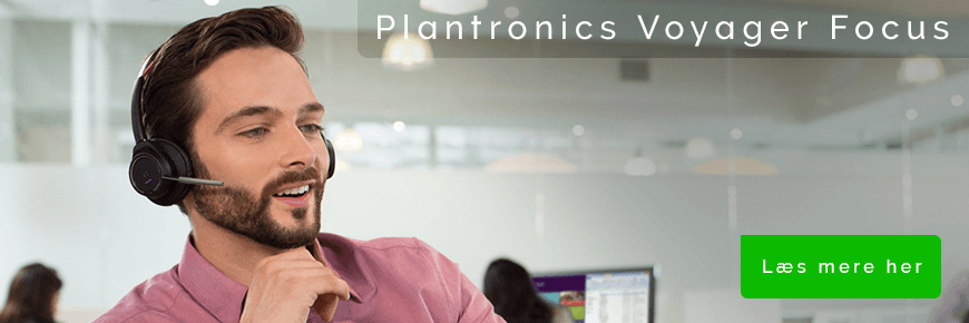 On-ear headset til musik og samtaler: Plantronics Voyager Focus