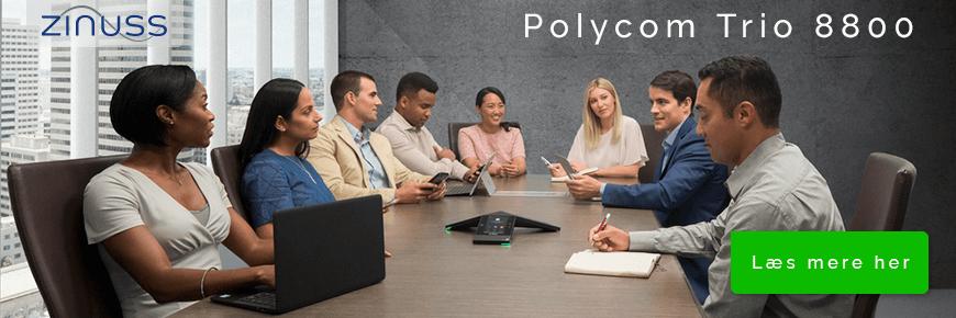 Polycom RealPresence Trio 8800 Collaboration Kit inklusiv konferencetelefon og webcam til videokonferencer og telefonmøder