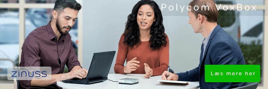 Polycom VoxBox Bluetooth speakerphone til små møder og telefonsamtaler