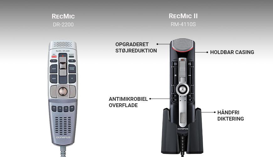 Olympus RecMic DM 2200 vs RM 4110S