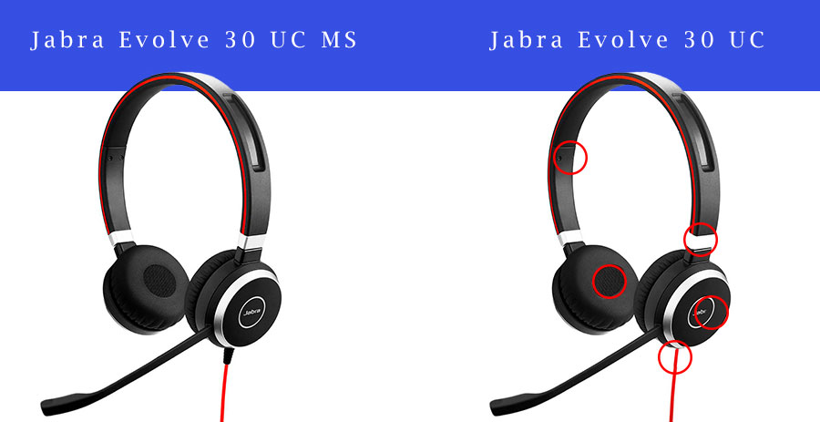 Skype for Business og Lync headset, Jabra Evolve 30