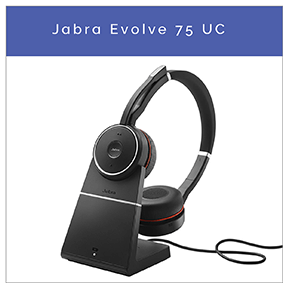 Jabra Evolve 75 UC Bluetooth headset med Active Noise Cancelling til PC og mobil