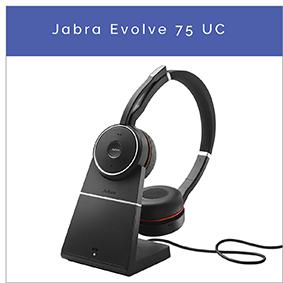 Jabra Evolve 75 UC Bluetooth headset med Active Noise Cancelling til PC og mobil
