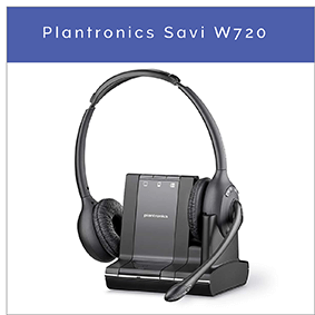Plantronics Savi W720 trådløst DECT kontor headset til PC, mobil og fastnettelefon