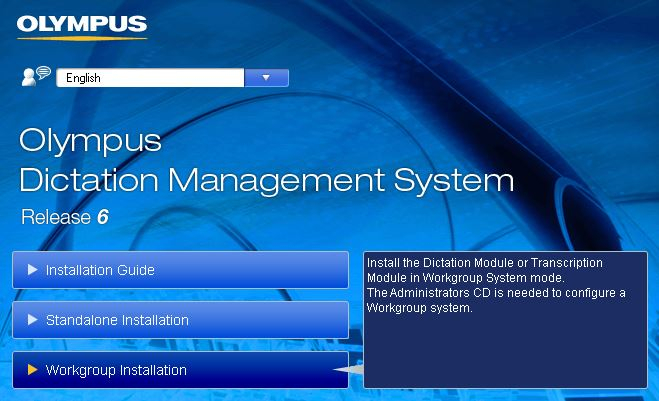 Olympus ODMS installation