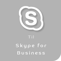 Webkamera til Skype for Business